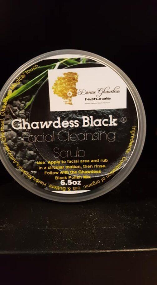 Ghawdess Black Facial Cleansing Scrub