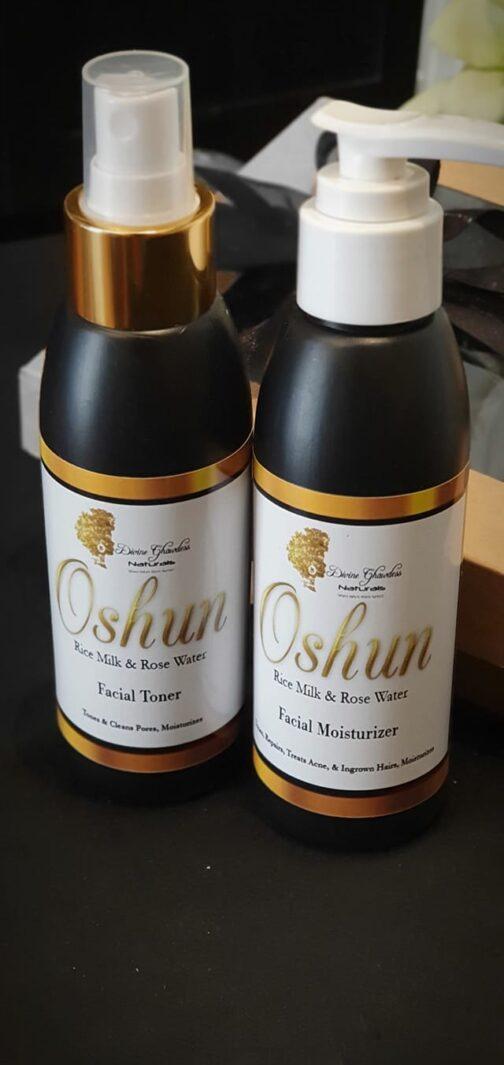toner and moisturizer