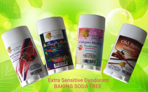 Extra sensitive deodorants